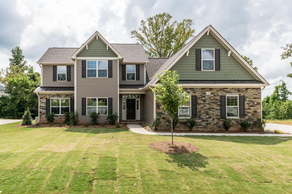 Oakwinds New Home in Winterville, NC Elevation D with Side Load Garage Option