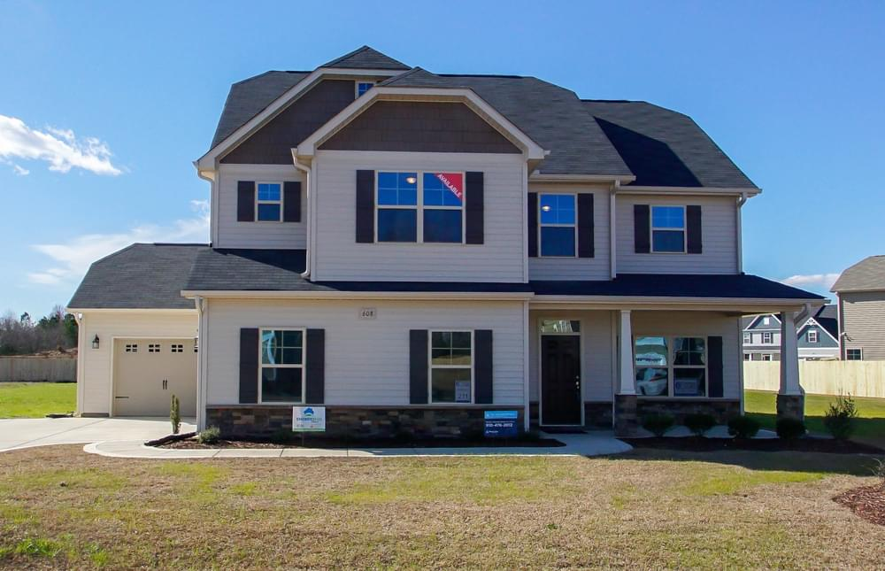 New Home in Wilmington, NC Elevation C with Side Load and 3 Car Garage Option