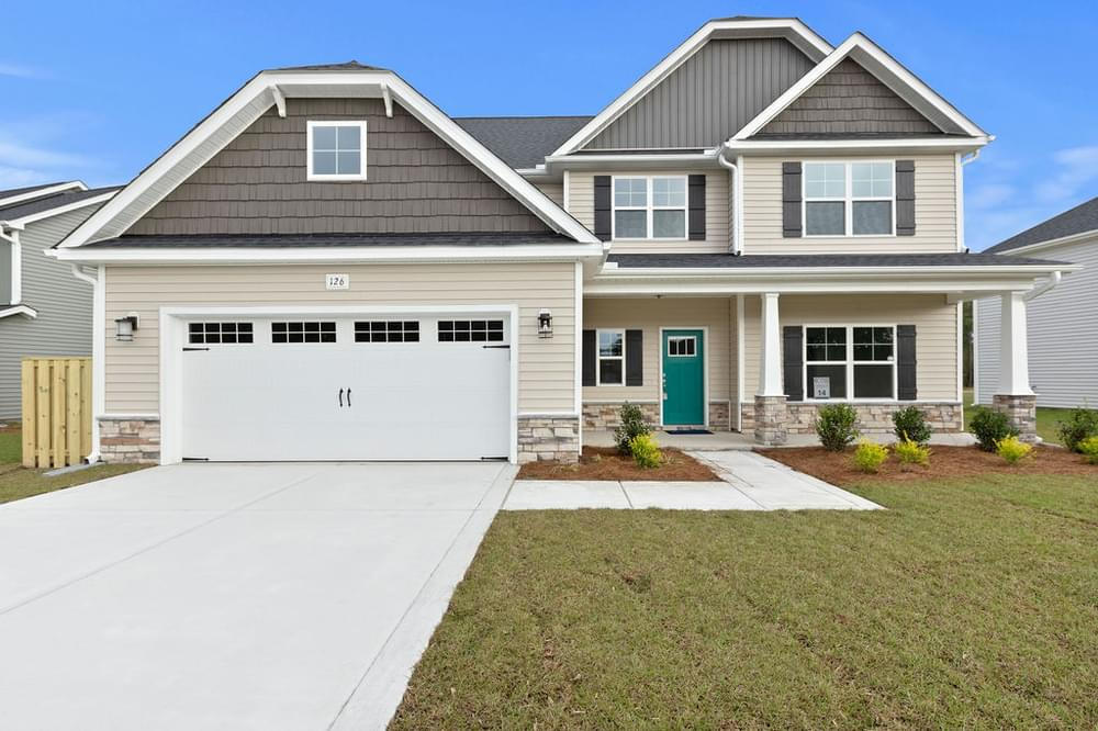Trent New Home in Winterville, NC Caviness & Cates Communities