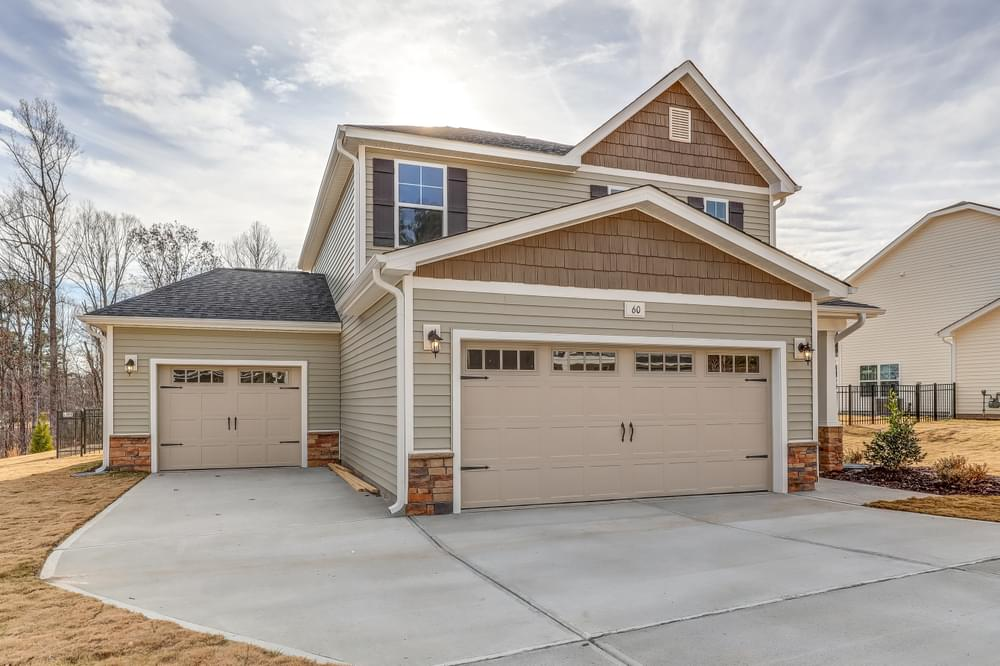 3br New Home in Leland, NC Elevation C 3 Car Option