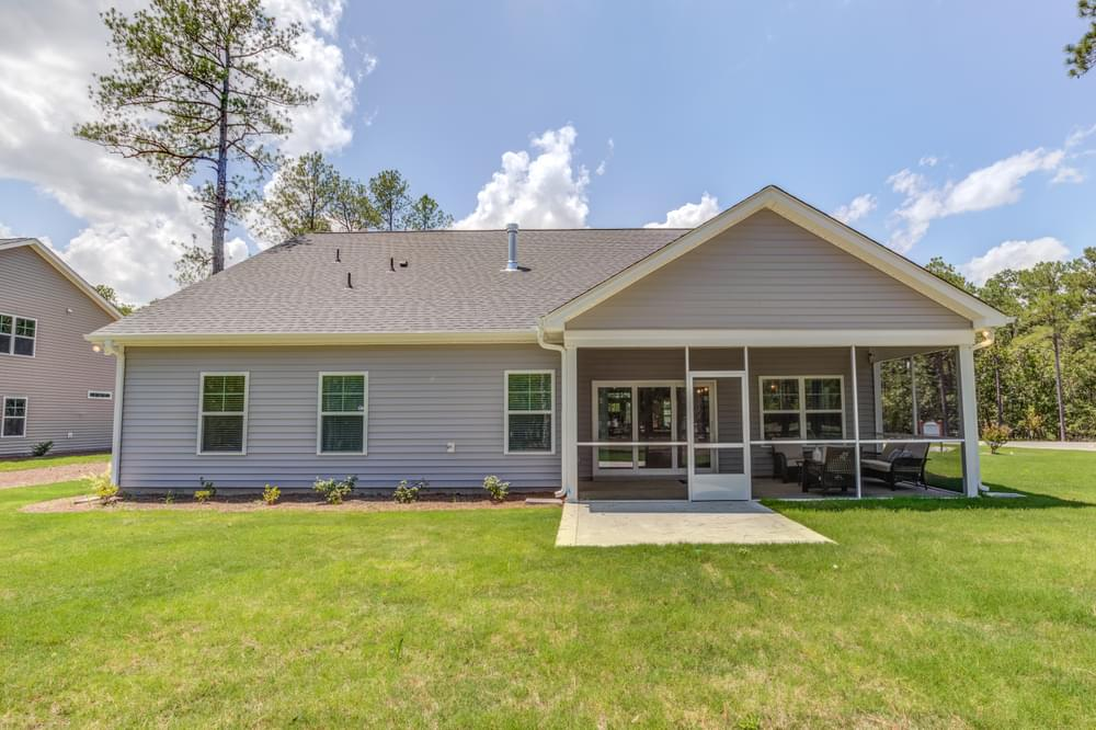 2,322sf New Home in Carthage, NC Screen Porch with Patio Option