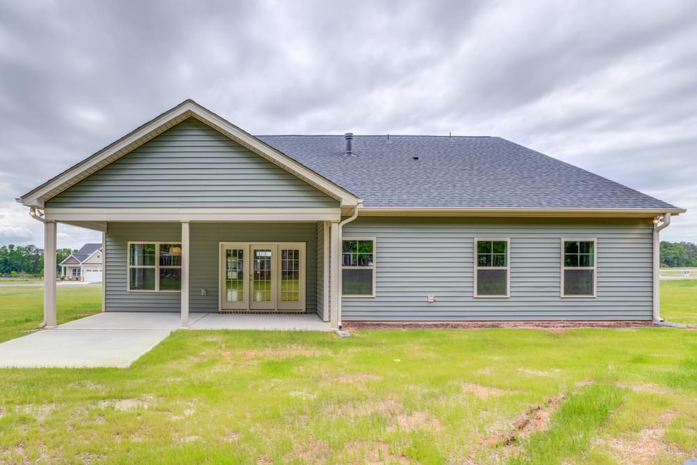 New Home in Carthage, NC Covered Porch with Patio Option