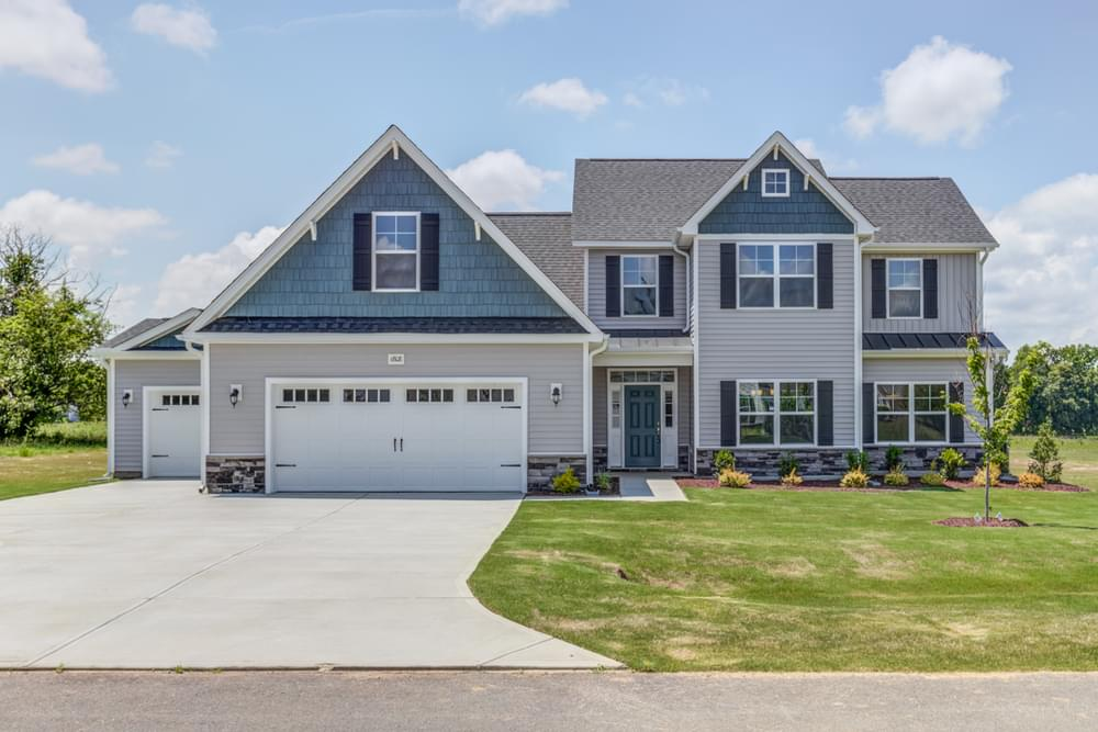 Winterville, NC New Home Elevation C with 3 Car Garage Option