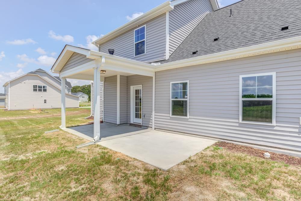 Winterville, NC New Home Covered Porch with Patio Option