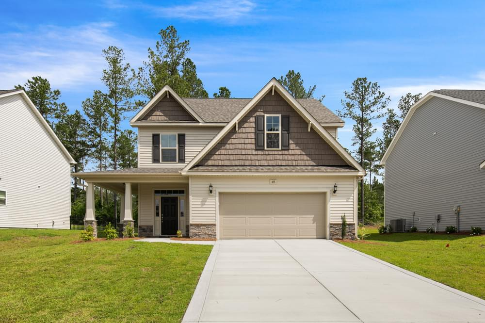 Bailey New Home in Spring Lake, NC Caviness & Cates Communities