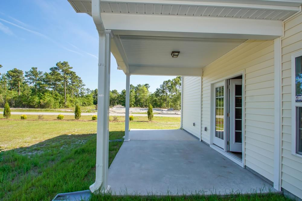 New Home in Grimesland, NC Covered Porch with Patio Option
