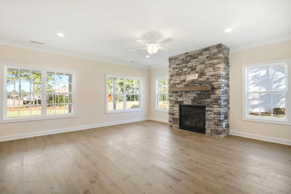 4br New Home in Greenville, NC Stone fireplace option