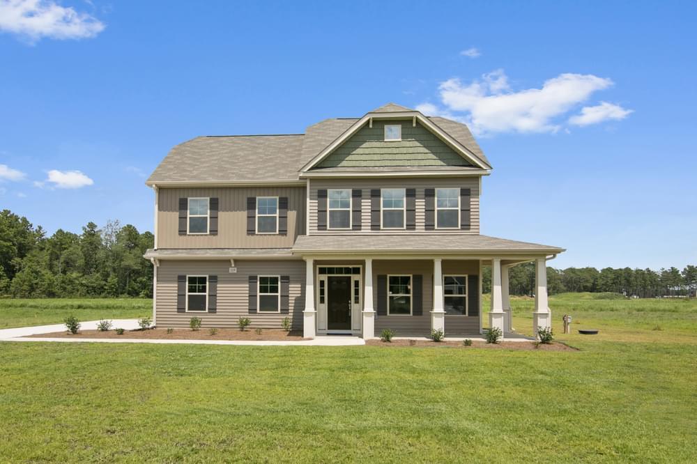 Clayton, NC New Home Elevation K with Side Load Garage Option