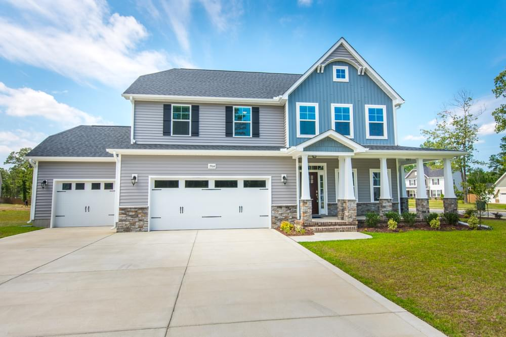 Sneads Ferry, NC New Home Elevation C with 3 Car Garage Option
