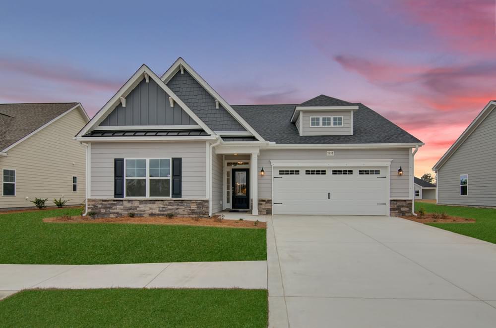 Coastal Elevation. New Home in Clayton, NC Coastal Elevation