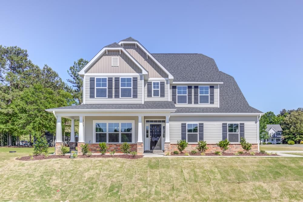 3,150sf New Home in Sneads Ferry, NC Elevation K with Side Load Garage Option
