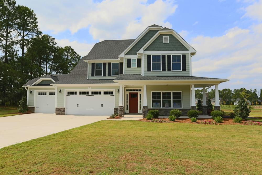 New Home in Sneads Ferry, NC Elevation K with 3 Car Garage Option