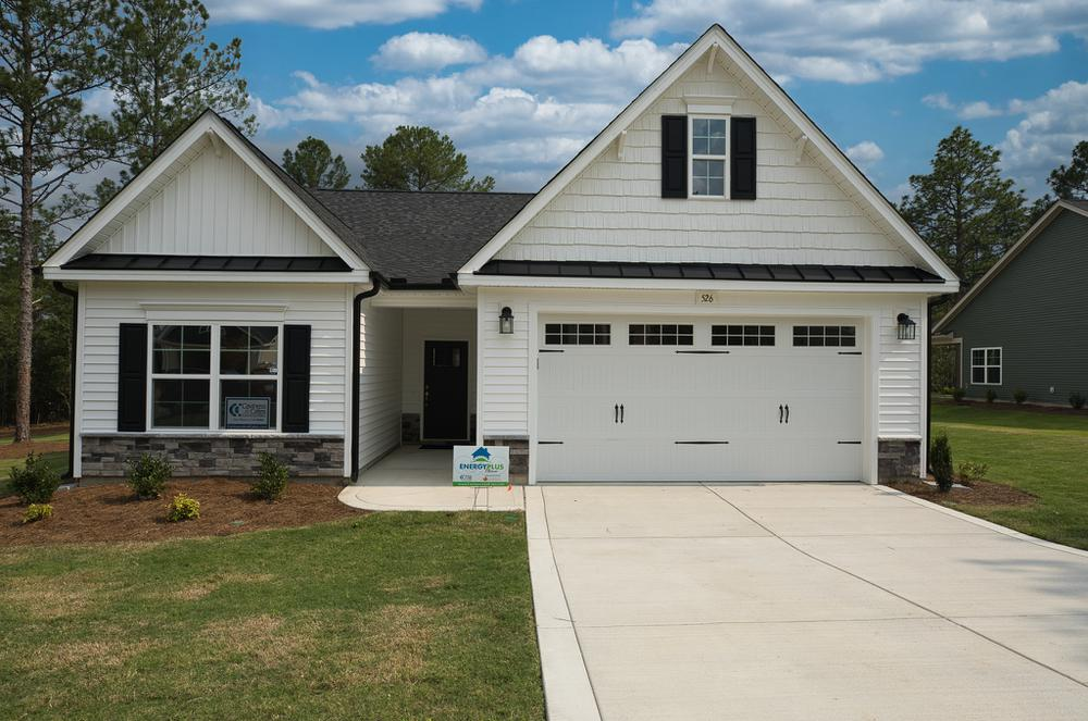 Elevation C. 1,715sf New Home in Carthage, NC Elevation C