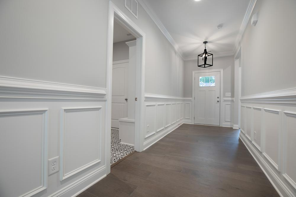 Wainscoting Trim in Foyer. Carthage, NC New Home Wainscoting Trim in Foyer