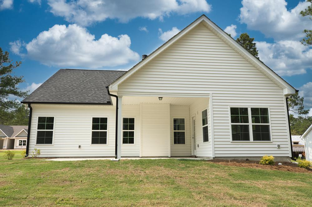 Covered Porch with Patio Option. Canton New Home in Carthage, NC Covered Porch with Patio Option