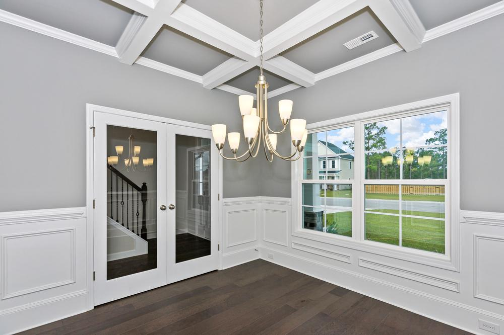 Formal dining room with french door option. 2,325sf New Home in Sneads Ferry, NC Formal dining room with french door option.