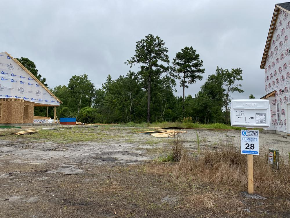 Homesite on 7/29/21. 4br New Home in Hampstead, NC Homesite on 7/29/21
