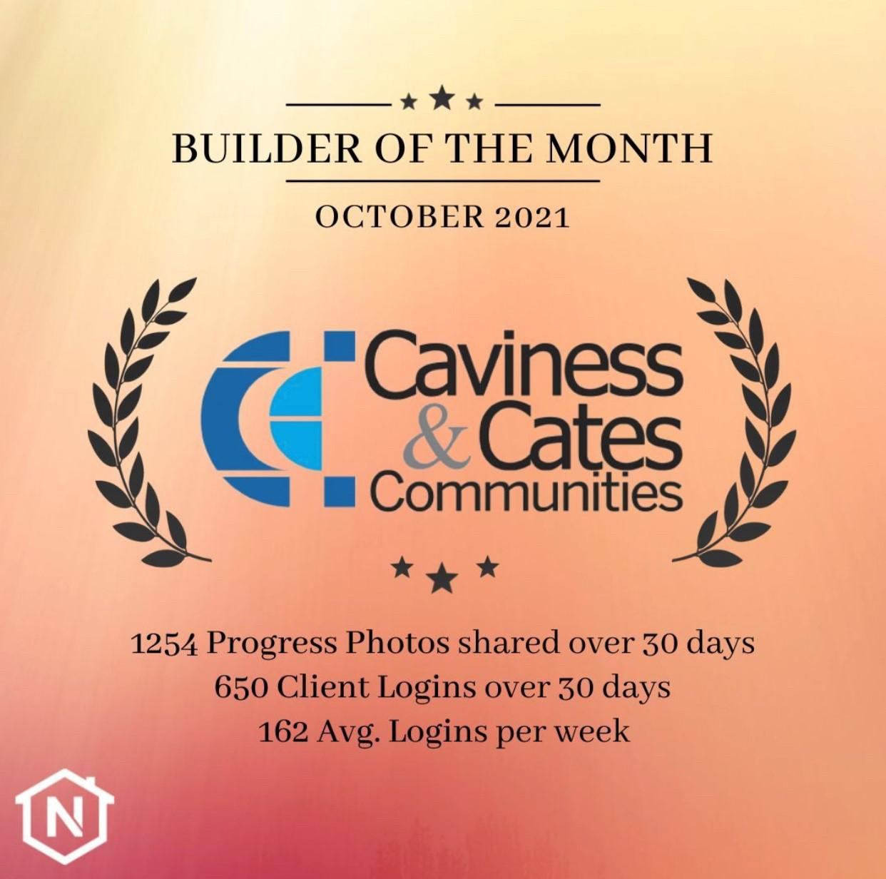 Caviness & Cates Builder of the Month at NoviHome