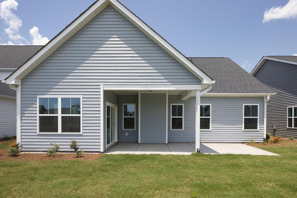 Covered Porch with Patio Option. 1,715sf New Home in Carthage, NC Covered Porch with Patio Option