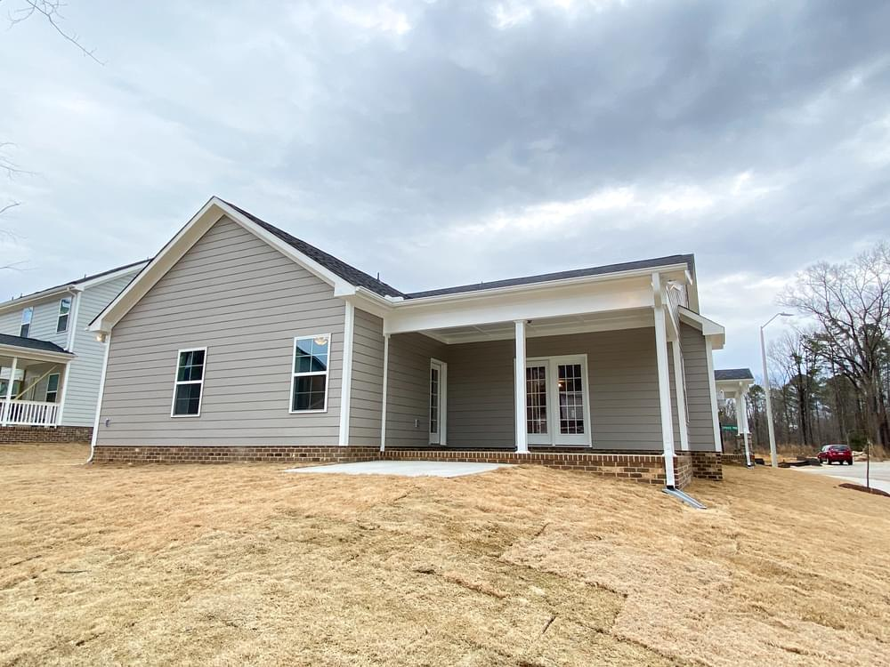 Covered Porch with Patio Option. New Home in Knightdale, NC Covered Porch with Patio Option