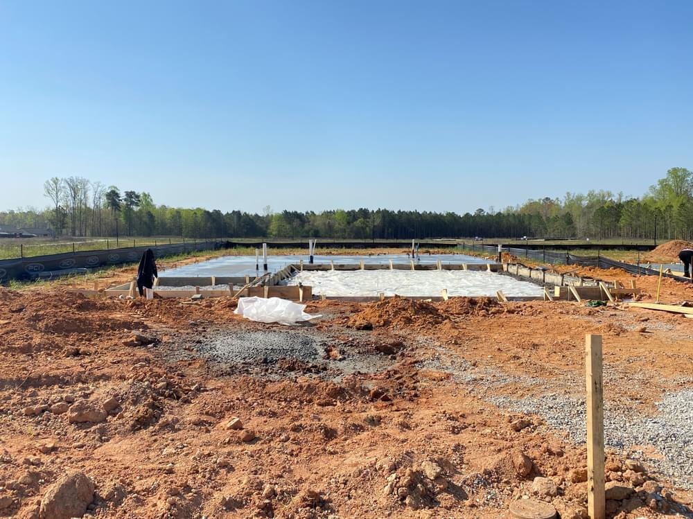 Clayton, NC New Home Lot in Foundation 4/6/2021