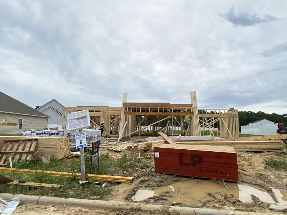 Home in framing 5/14/2021. Grimesland, NC New Home Home in framing 5/14/2021