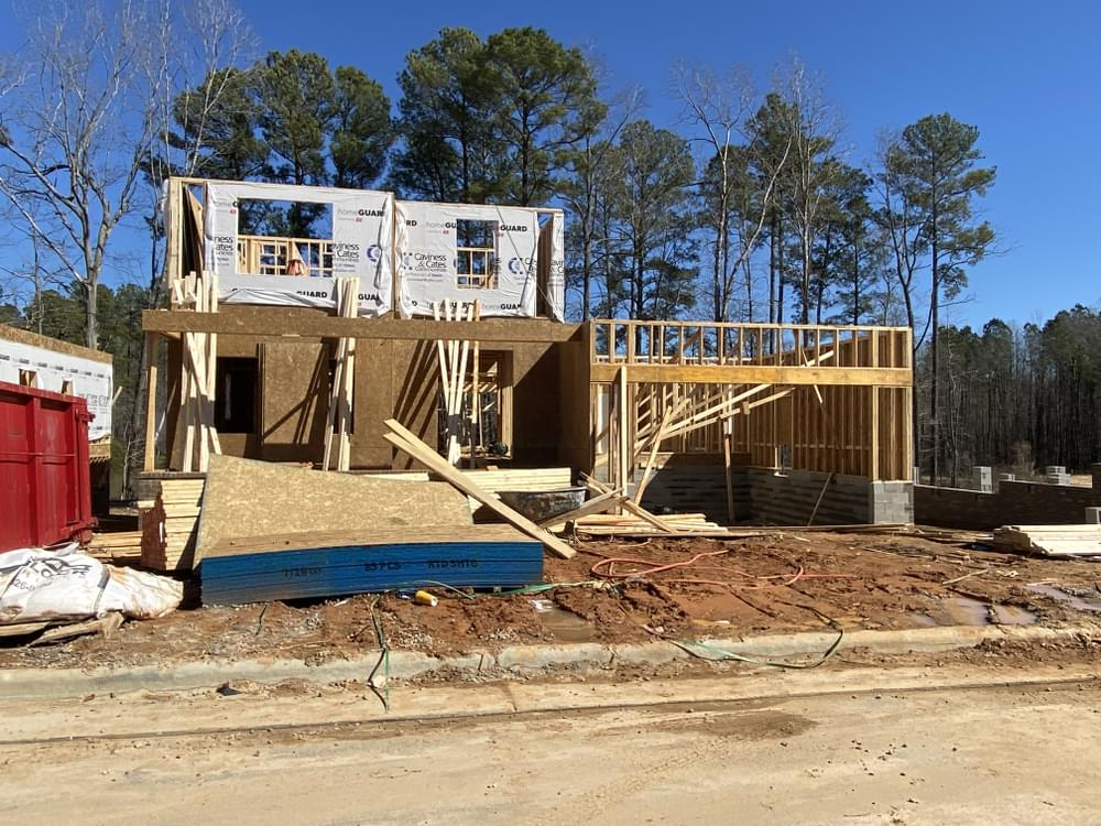 Home in framing 2/24/21. 2,927sf New Home in Knightdale, NC Home in framing 2/24/21