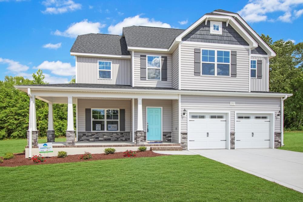 Elevation K. 4br New Home in Wendell, NC Elevation K