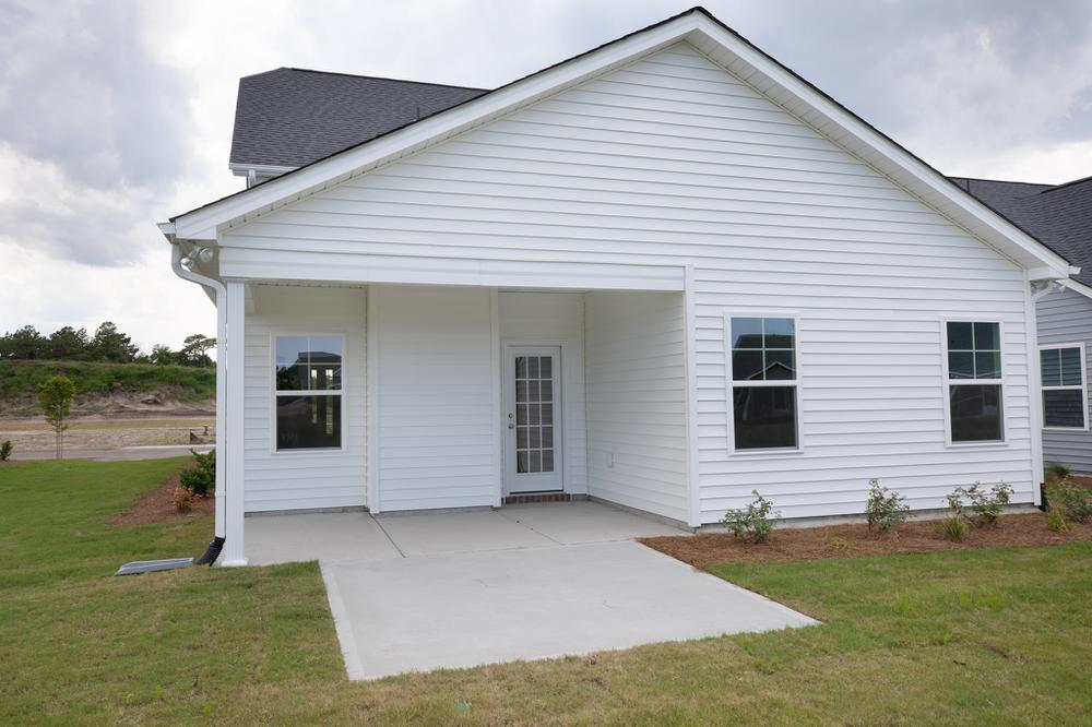 Covered Porch with Patio Option. New Home in Leland, NC Covered Porch with Patio Option