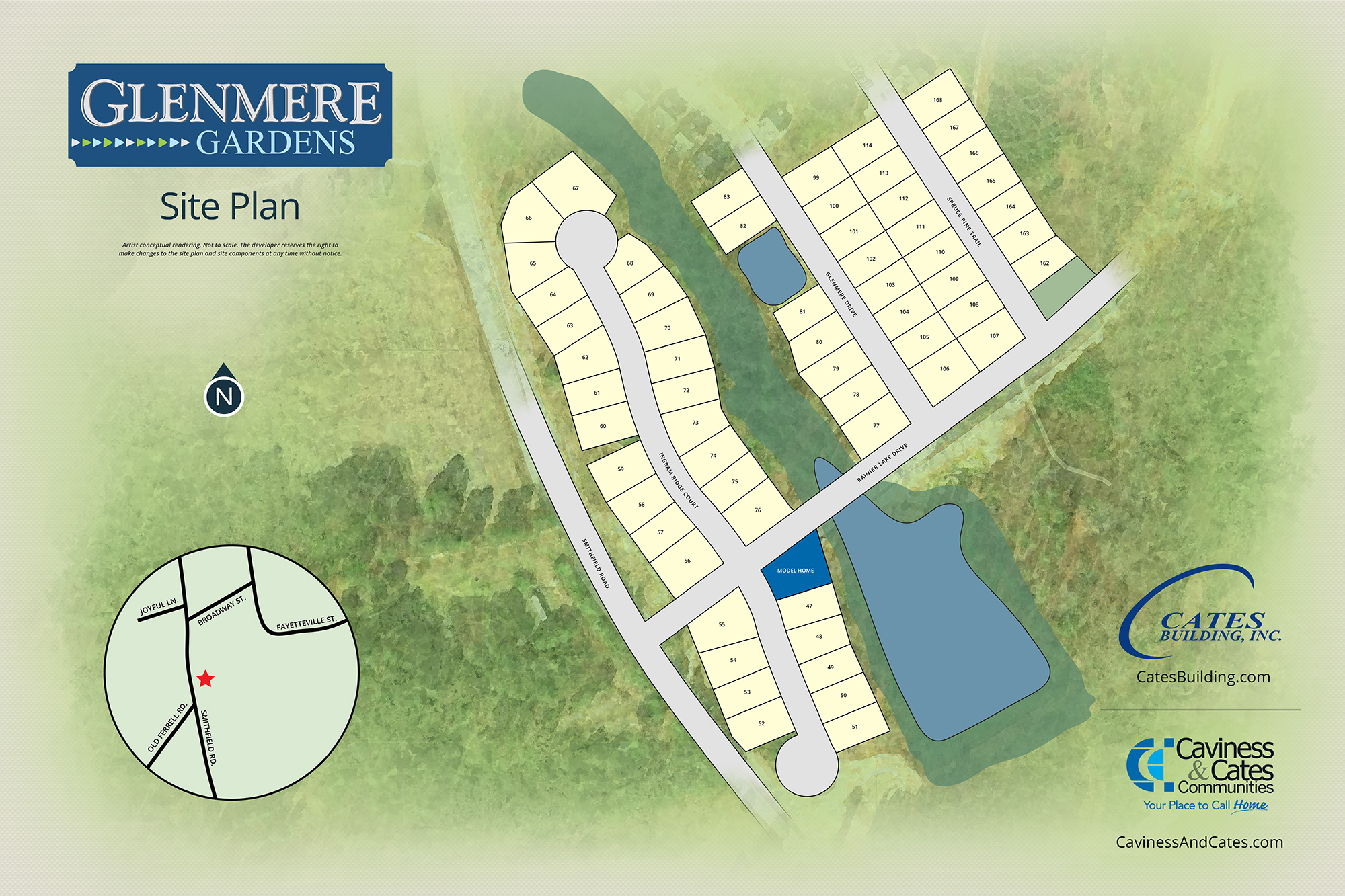 Knightdale, NC Glenmere Gardens New Homes from Stylecraft Builders