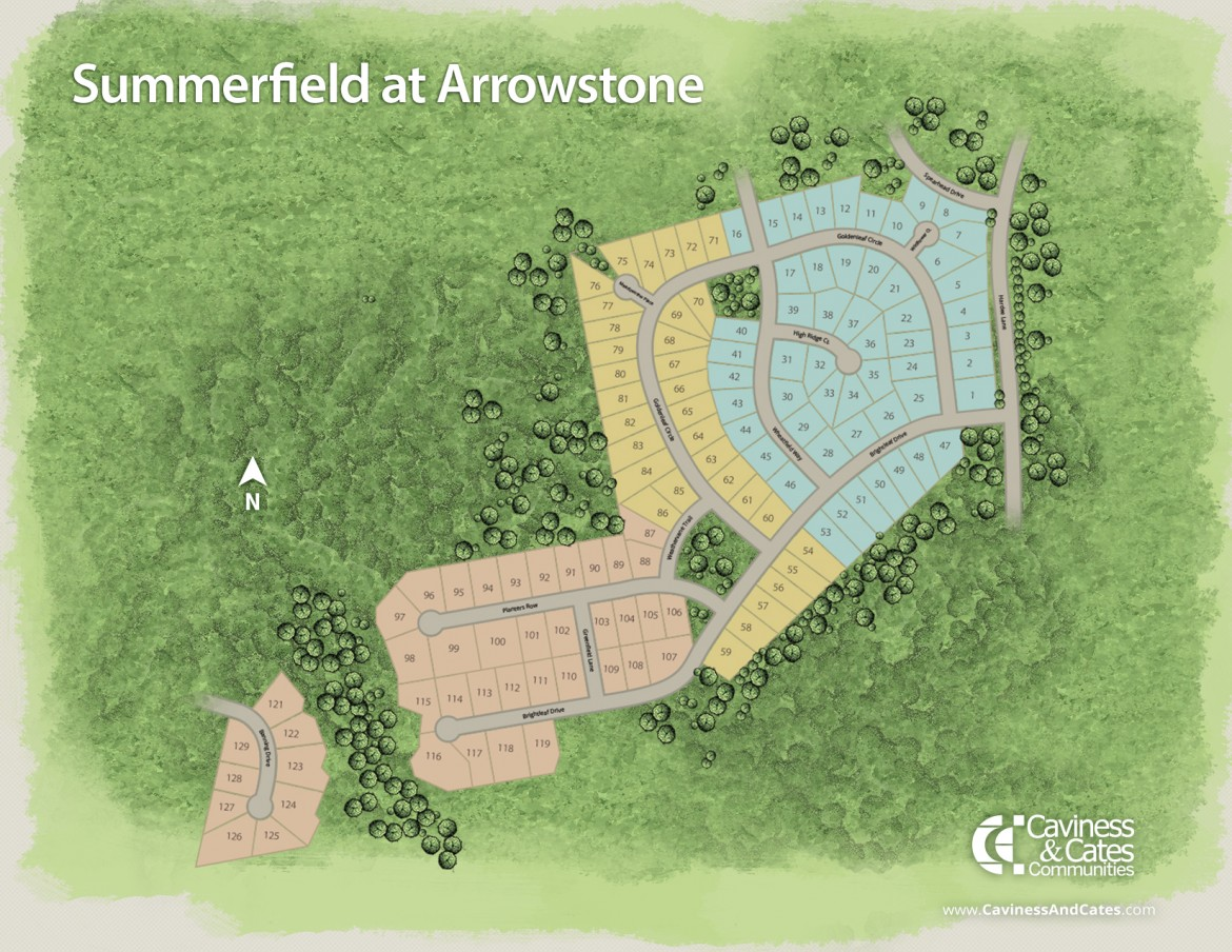 Whispering Pines, NC Summerfield at Arrowstone New Homes from Stylecraft Builders